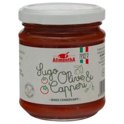 sugo olive e capperi senza conservanti, Alimentha